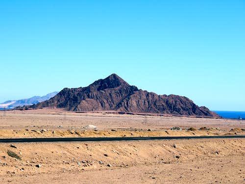 Lone hill near Sharm el Sheikh