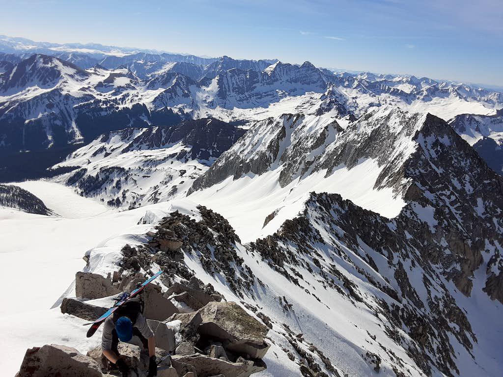 Climbing the Ridge to Snowmass Summit