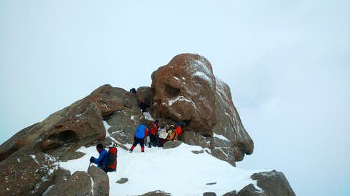 Alvand Peak in Winter