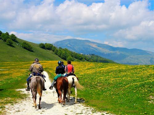 Riders near Corno della Paura
