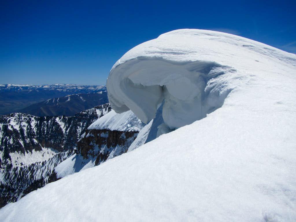 North Timpanogos Peak summit cornice