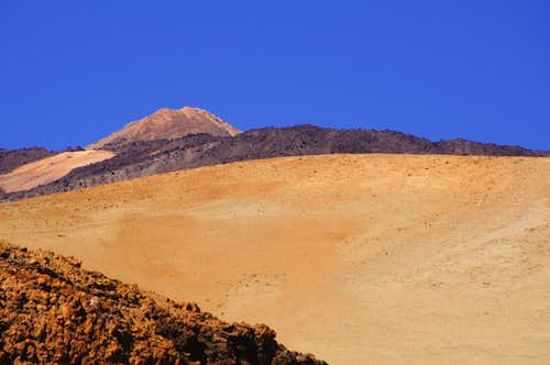 Teide from below Montaña Blanca