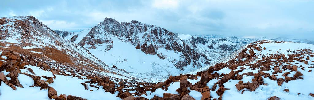 Pano from the dip at the base of Tempest