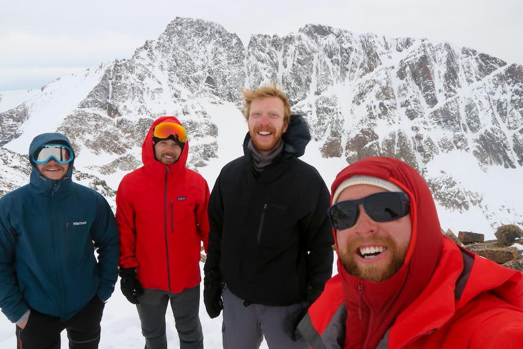 The team on the ridge overlooking Granite Peak.