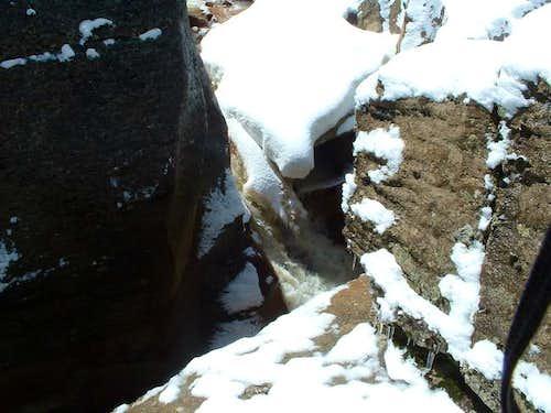snow melt on the ravine