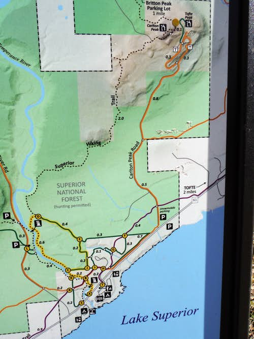 Trail Map - Temperance River State Park
