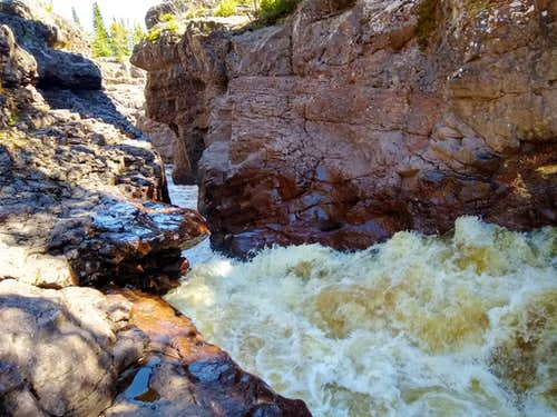 Water Thundering Down Temperance River Gorge