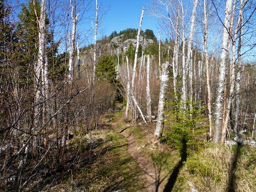 Carlton Peak over the Superior Hiking Trail