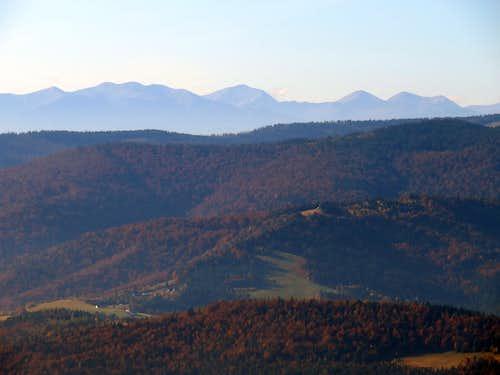 Western Tatras from Mogielica