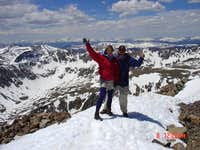 On the summit of Quandry...