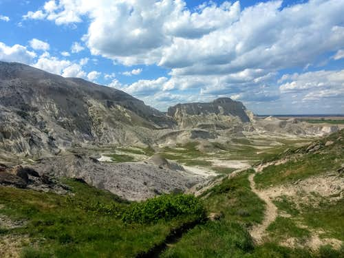 View on the way back down from White Butte