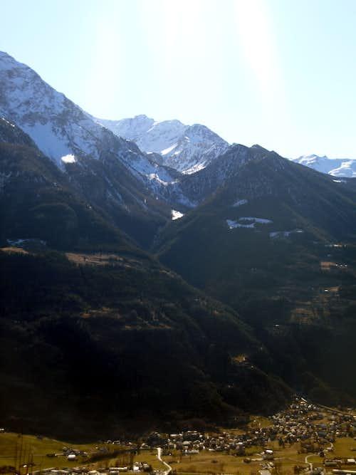 Gorge du Dard between Pollein/Charvensod Municipalities