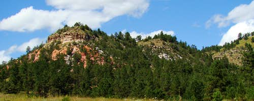 Dakota Sandstone Outcroppings in Elm Creek Canyon