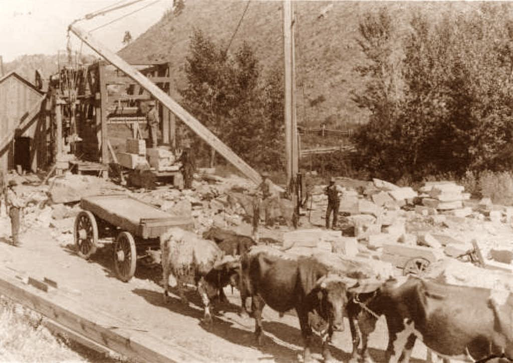 Historical Photo of the old Elm Creek Quarry Operations