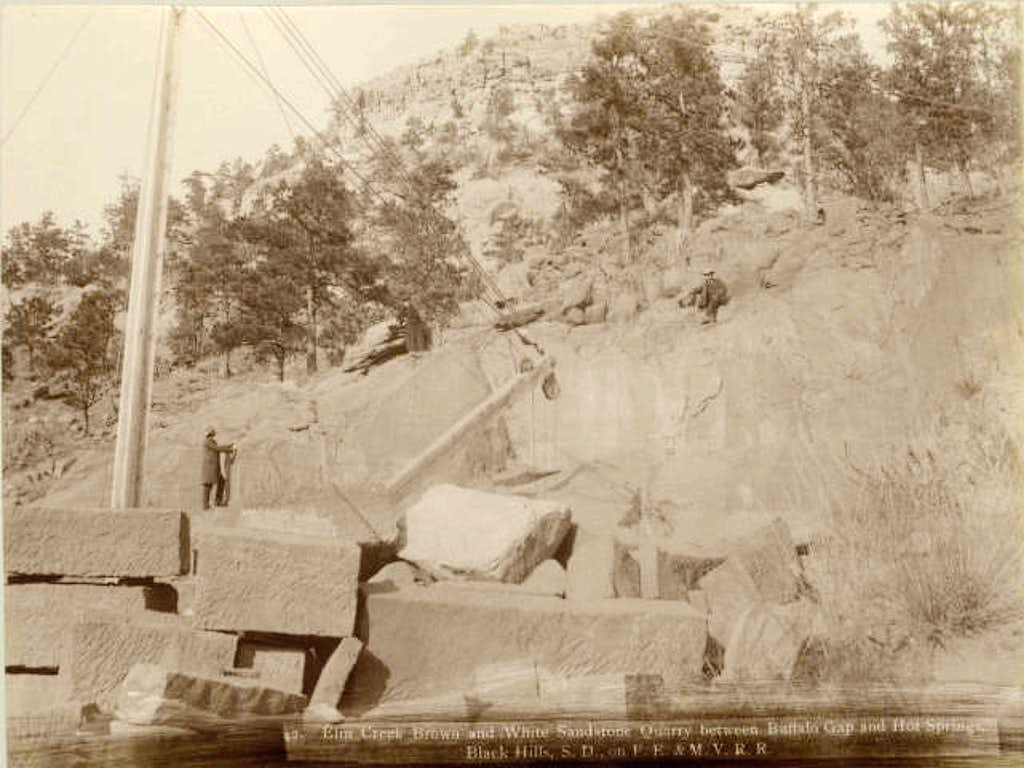 The old Elm Creek Canyon Quarry