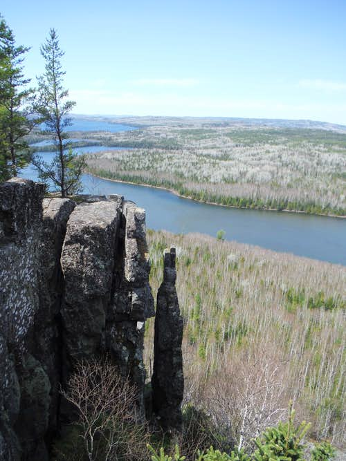 Rose Cliffs - View of Fourth Overlook and its Pinnacle from Third Overlook
