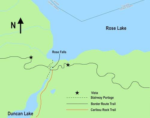 Rose Falls - Stairway Portage Detail