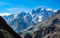 Lady Finger Peak from Hunza Valley