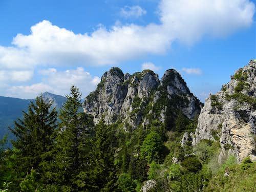 Scenery along the Via Ferrata Mora-Pellegrini