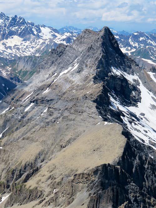 Sharp ridge of Stammerspitz