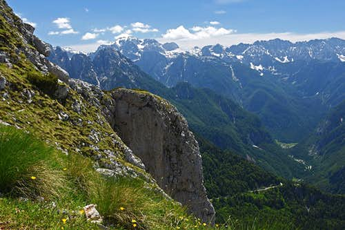 The mountains above Trenta valley