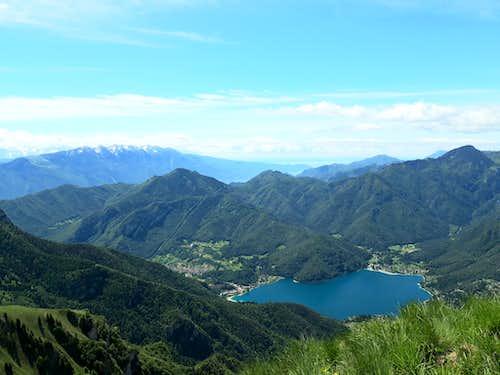 Ledro Lake from Cima Parì