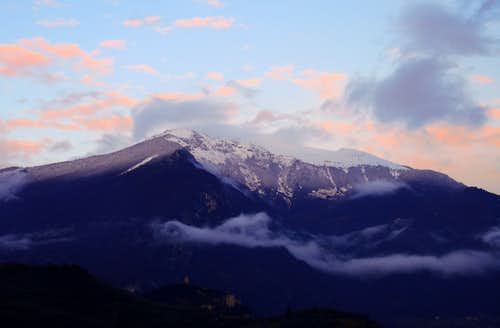 Monte Stivo near a spring sundown