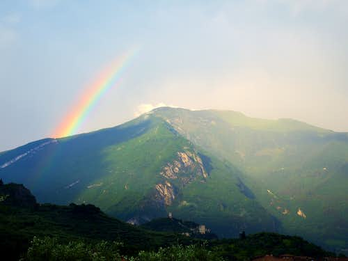 Rainbow from Monte Stivo