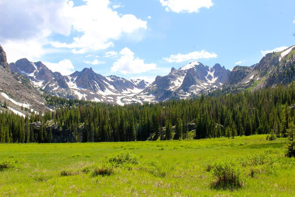 Mount Valhalla and Hail Peak - last marsh