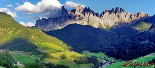 Odle range at the head of Val di Funes
