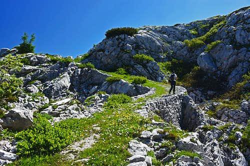 Monte Robon from Sella Nevea (W route)