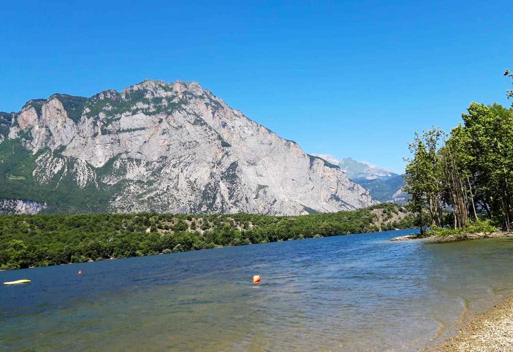 Monte Casale from Lago di Cavedine