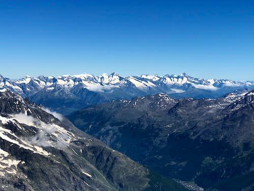 Berner Oberland from Allalinhorn
