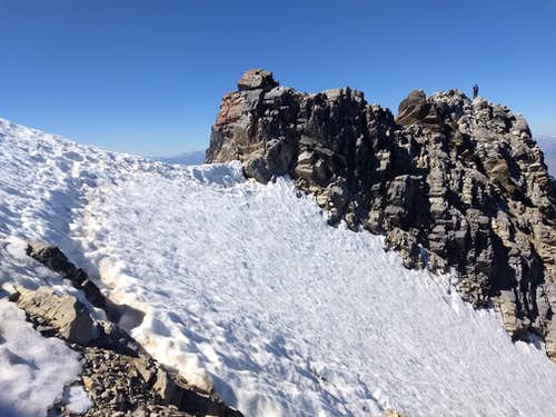 Snow crossing to crux of COR