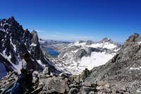 The Wind River's Titcomb Basin as soon from atop Bonney Pass - July 2020
