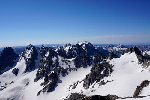 Looking south toward Bonney Pass from atop Gannett Peak - July 2020