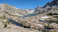 A view of the Titcomb Basin from its southwest edge