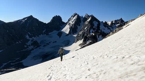 Nearing the summit ridge of Gannett Peak
