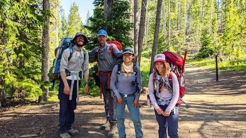 Gannett Peak 2020 at the hike's end