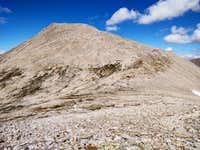 Tabeguache Peak from saddle between Mt Shavano