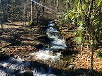 Creek running by Trail on Chunky Gal