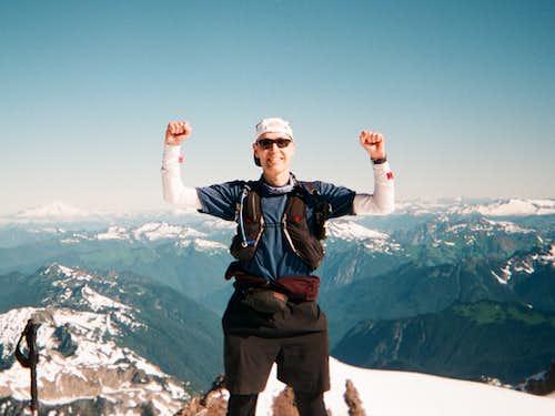 Glacier Peak & Mt. Pilchuck from Puget Sound (Sea Level) Round Trip in Single Push