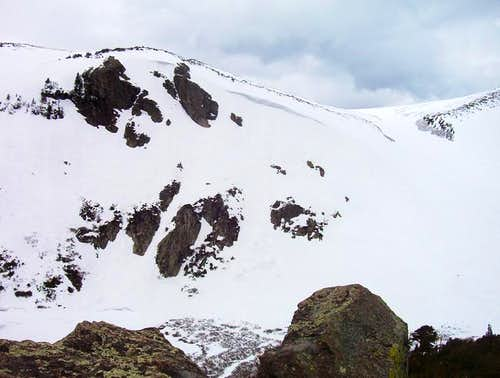 This picture shows the steep...