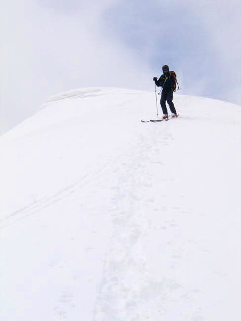 Skiing off of Mount Lincoln's...
