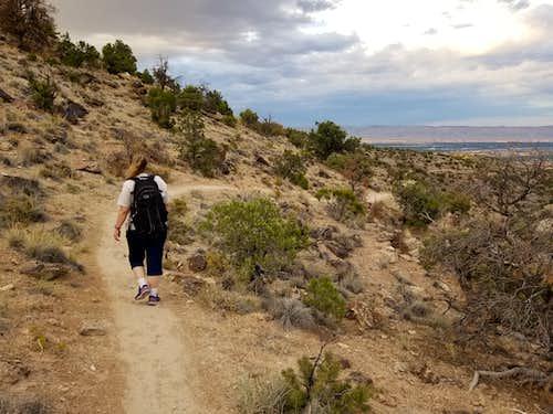 Kimberly on the Snakeskin Trail