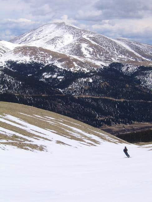Skiing in lower Putnam Gulch,...