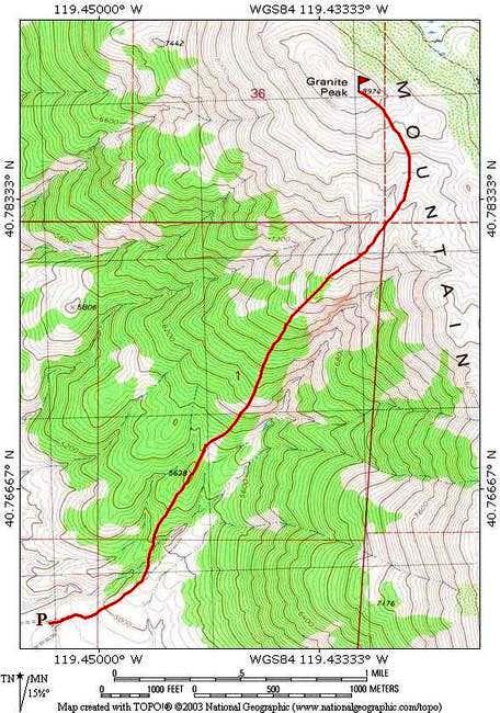 Granite Peak - southwest...