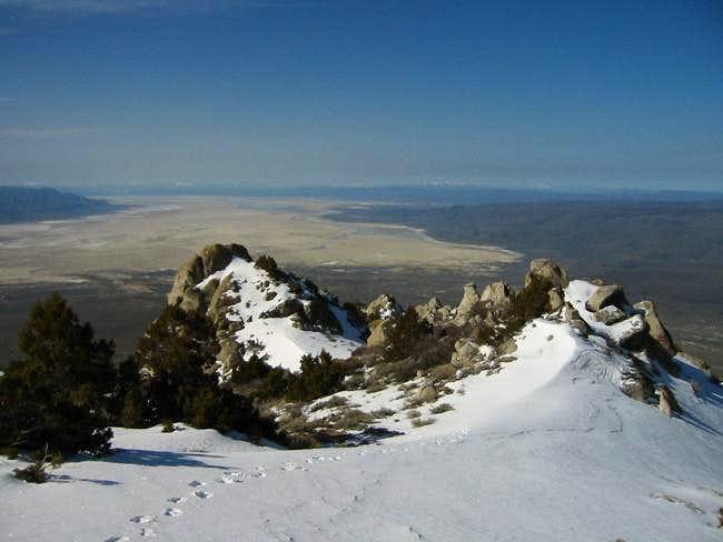 Snow on the southwest ridge...
