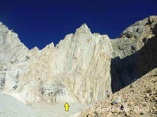 East Face start and finish