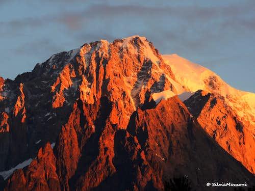 Monte Bianco at sunrise